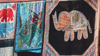 The typical Jaipur patterns and colours